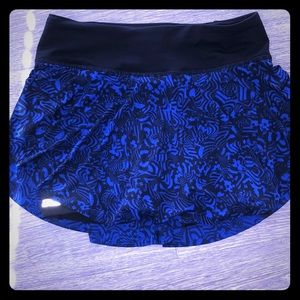 Royal blue and black lululemon skort
